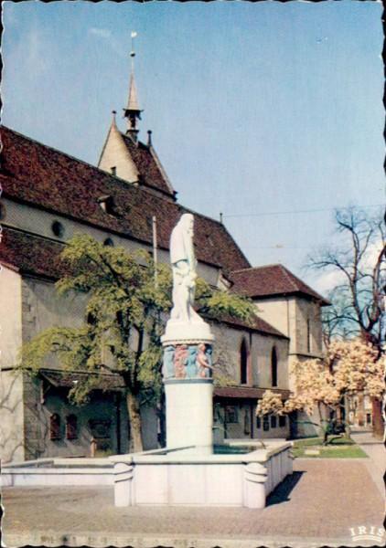 Wettstein Brunnen mit Theodorskirche, Basel