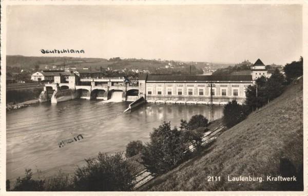 Laufenburg. Kraftwerk. 1945 Vorderseite