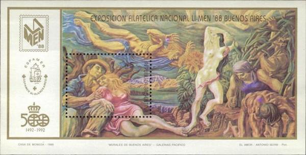 Exposition Filatelica Nacional Li-Men 88 Buenos Aires Vorderseite