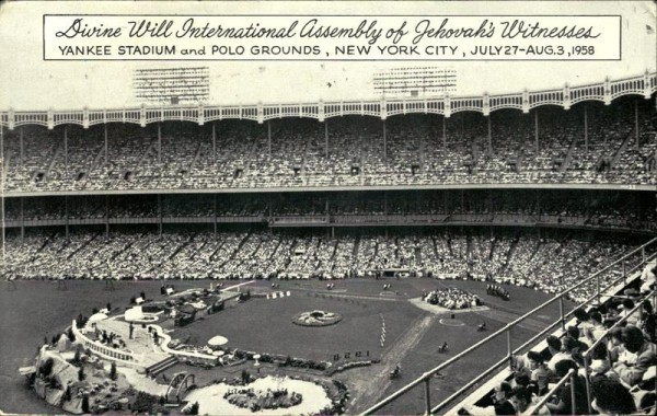 Divine Will International Assembly of Iehovah's Witnesses, Yankee Stadium and Polo Grounds, New York City Vorderseite