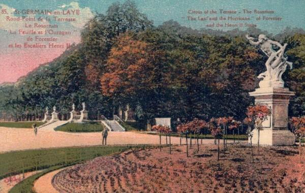 St. Germain en Laye, Rond-Point de la Terrasse Le Rosarium, La Feuille et l`Ouragan de Forestier et les Escaliers Henri II Vorderseite