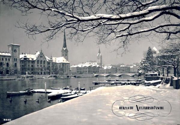 Zürich. Herzliche Neujahrswünsche Vorderseite