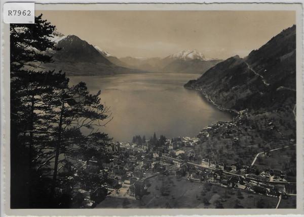 Gersau aus der Vogelschau - Blick auf Pilatus & Buochserhorn