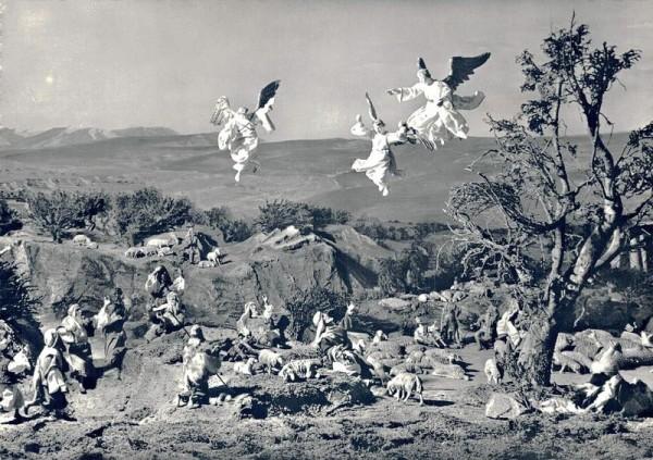 NEUES DIORAMA Bethlehem, Einsiedeln, Verkündigung an die Hirten Vorderseite