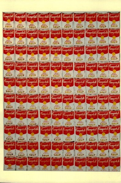 """100 Cans. of Campbells Beef Noodle Soup"", Andy Warhol (N.Y.C.) Vorderseite"