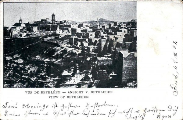 Vue de Bethléem Vorderseite