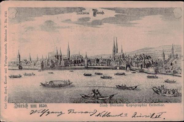Zürich um 1650 Vorderseite