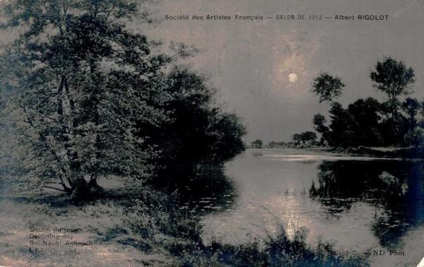 Societe des Artistes Francais - Salon de 1912 - Albert Rigolot, Bei Nacht Anbruch Vorderseite