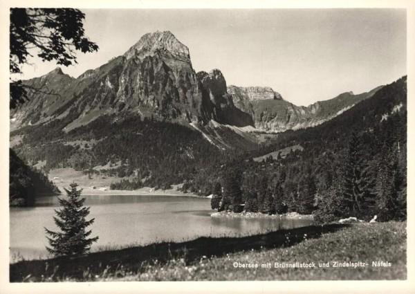 Obersee mit Brünnelistock und Zindelspitz, Näfels Vorderseite
