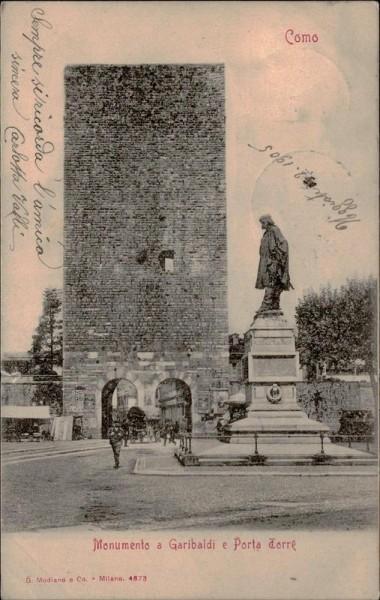 Como, Monumento a Garibaldi e Porta Torre Vorderseite