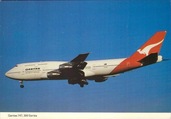 Qantas 747, 300 Series, Australien Vorderseite