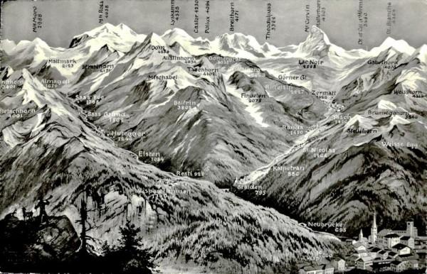 Walliser Alpen Vorderseite