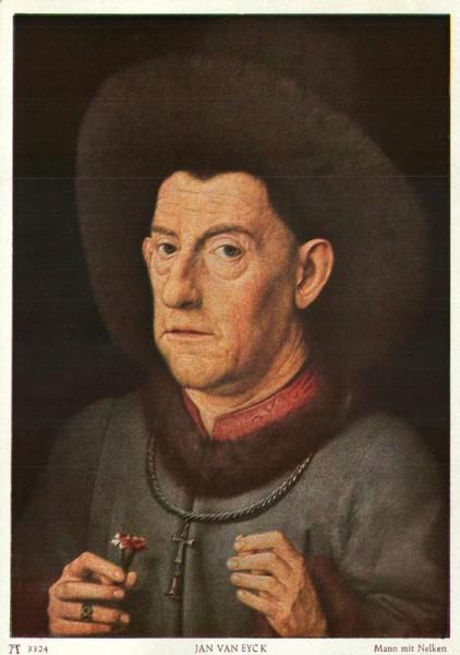 Mann mit Nelken, Jan Van Eyck Vorderseite