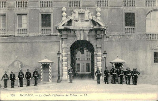 Monaco, La Garde d'Honneur du Prince Vorderseite