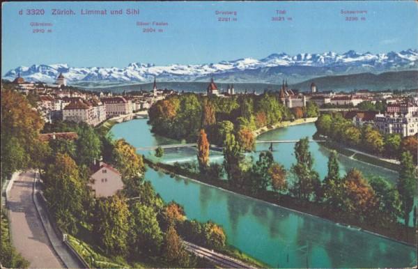Zürich - Limmat und Sihl