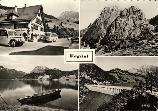 Wägital, Innerthal, Gasthaus Stausee Vorderseite