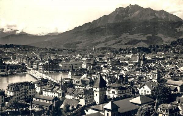 Luzern mit Pilatus Vorderseite