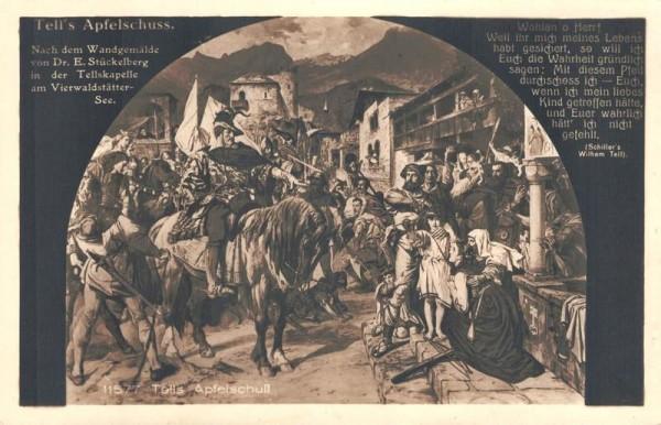 Tells Apfelschuss nach dem Wandgemälde von Dr. Stückelberg Vorderseite