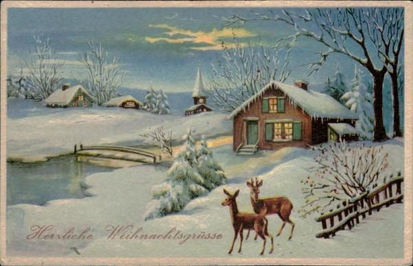 Herzliche Weihnachtsgrüsse Vorderseite