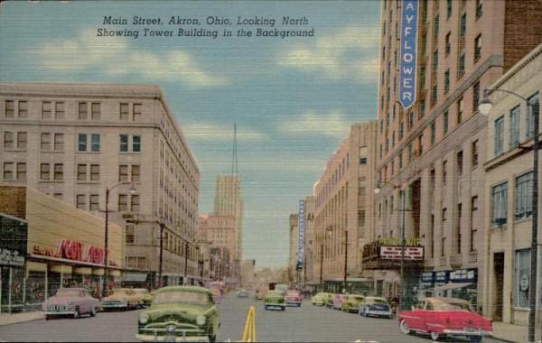Akron Ohio, Main Street  Vorderseite