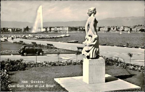 """Genève, Quai Gust. Ador et """"La Brise"""" Vorderseite"""