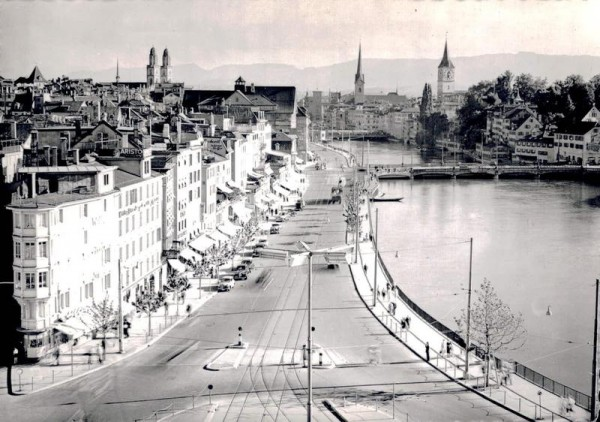 Zürich. Limmatquai Vorderseite