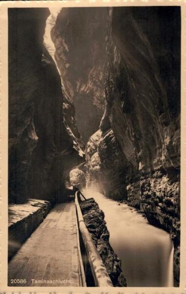 Taminaschlucht bei Bad Pfäfers. 1917 Vorderseite
