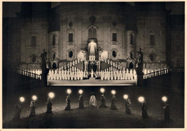 """""""Das grosse Welttheater"""" Einsiedeln 1935, Vorspiel Vorderseite"""