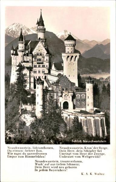 Schloss Neuschwanstein Vorderseite