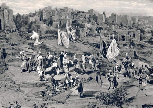 NEUES DIORAMA Bethlehem, Einsiedeln, Aufzug der 3 Könige Vorderseite