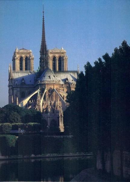 Cathédrale Notre-Dame de Paris. Vue depuis I`Ile Saint Louis Vorderseite