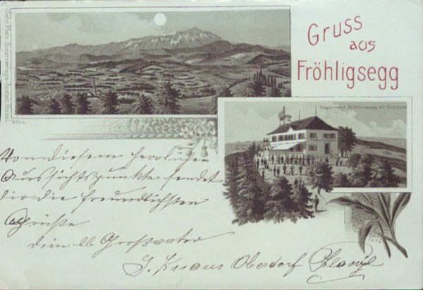 Gruss aus Fröhligsegg - Litho