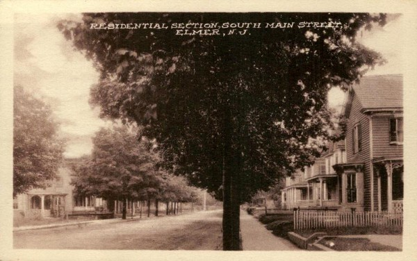 Residential Section,  South Main Street, Elmer Vorderseite
