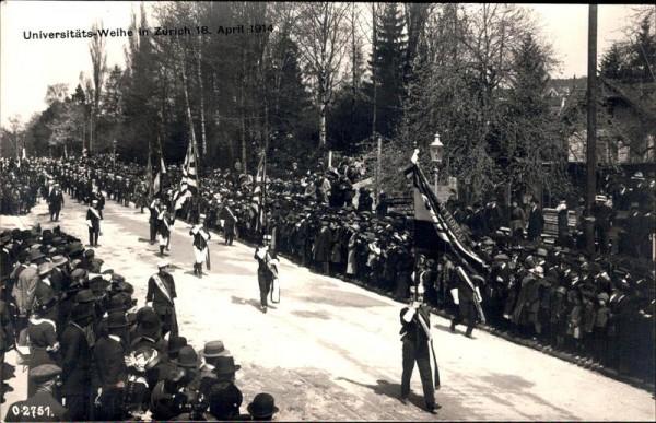 Zürich, Universitätsweihe 1914 Vorderseite