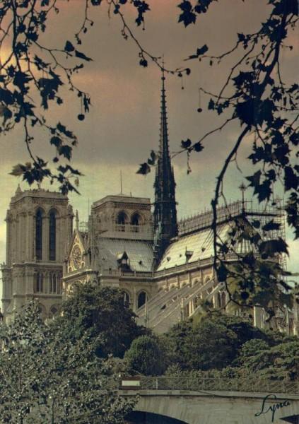Paris. Cathédrale Notre-Dame Vorderseite