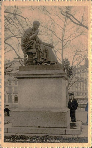 Genève, Statue de J.J. rousseau Vorderseite
