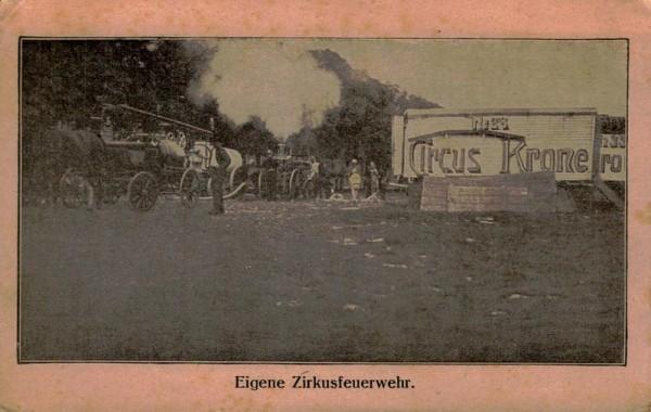 Feuerwehr des Zirkus Krone Vorderseite