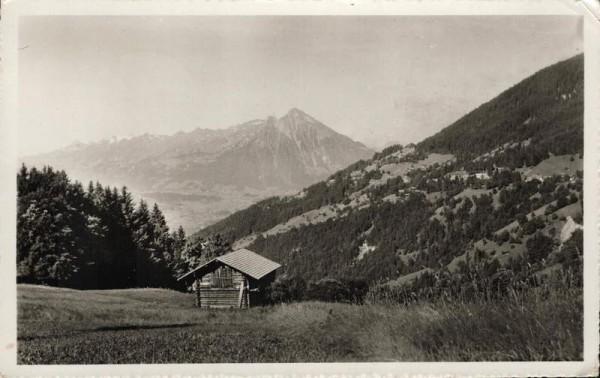 Blick von der Waldegg auf Beatenberg und Niesen Vorderseite