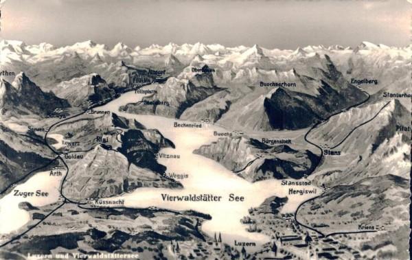 Luzern und Vierwaldstättersee Vorderseite