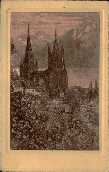 Lausanne, Cathédrale Vorderseite