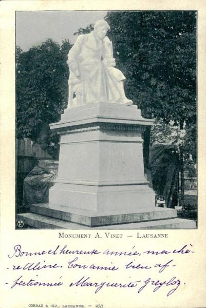 Statue d'Alexandre Vinet à Lausanne Vorderseite