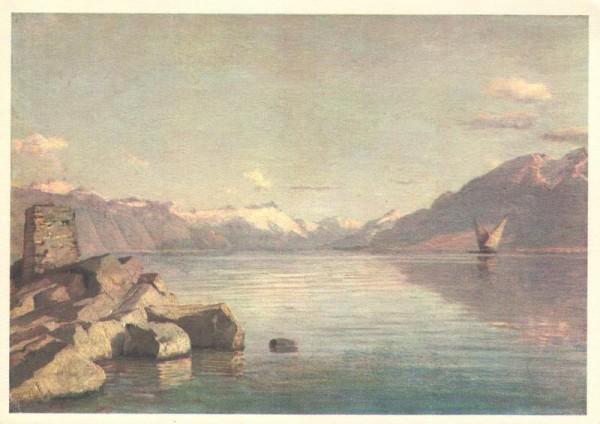 Chavannes. Le lac à Villette. La Pouponnière-L`Abri. Lausanne Vorderseite