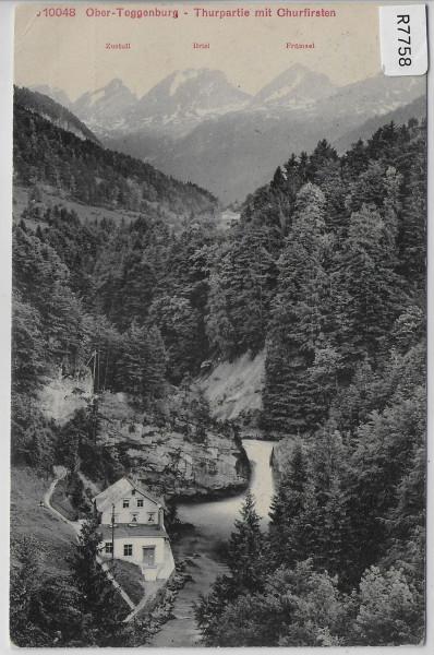 Thurpartie mit Churfirsten - Ober-Toggenburg - 1. August 1910