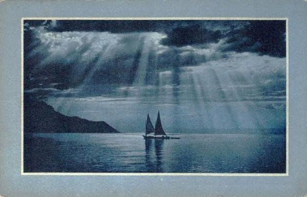 Lac Léman - Soir d'orage, 1910 Vorderseite