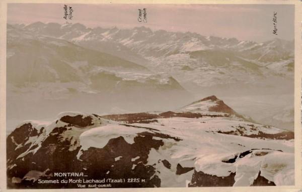 Montana - Sommet du Mont Lachaud (Tzaat) Vorderseite
