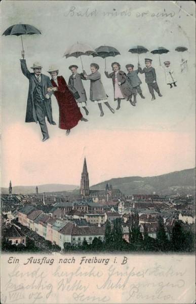 Ein Ausflug nach Freiburg im Breisgau. Vorderseite
