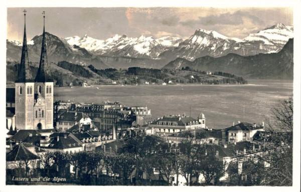 Luzern und die Alpen. 1940 Vorderseite
