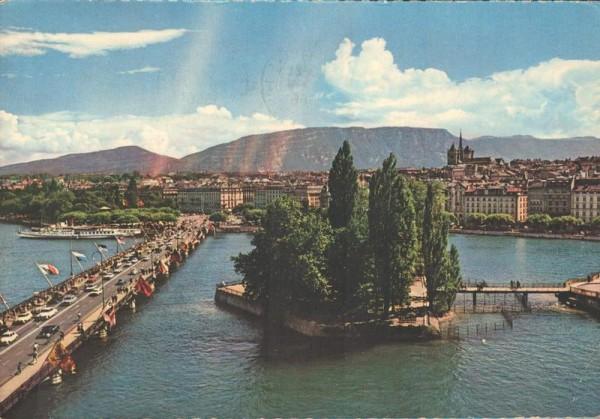 Genève - L`Ile Rousseau et le Pont du Mont Blanc Vorderseite