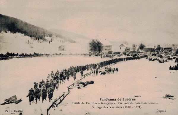 Panorama de Lucerne, Defilé de l`artellirie (1870-1871) Vorderseite