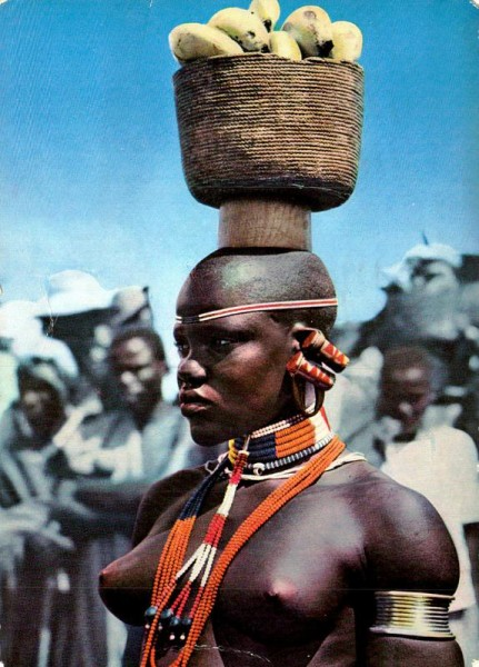 African girl Vorderseite